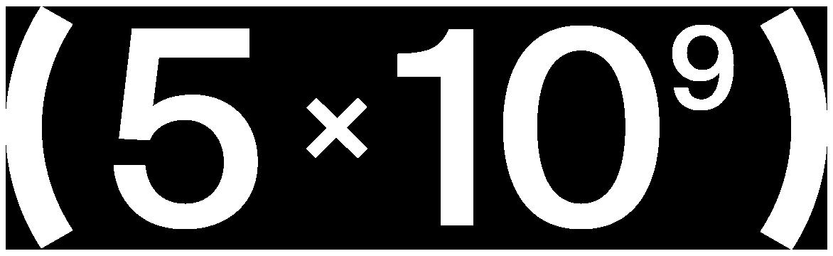 5x10^9