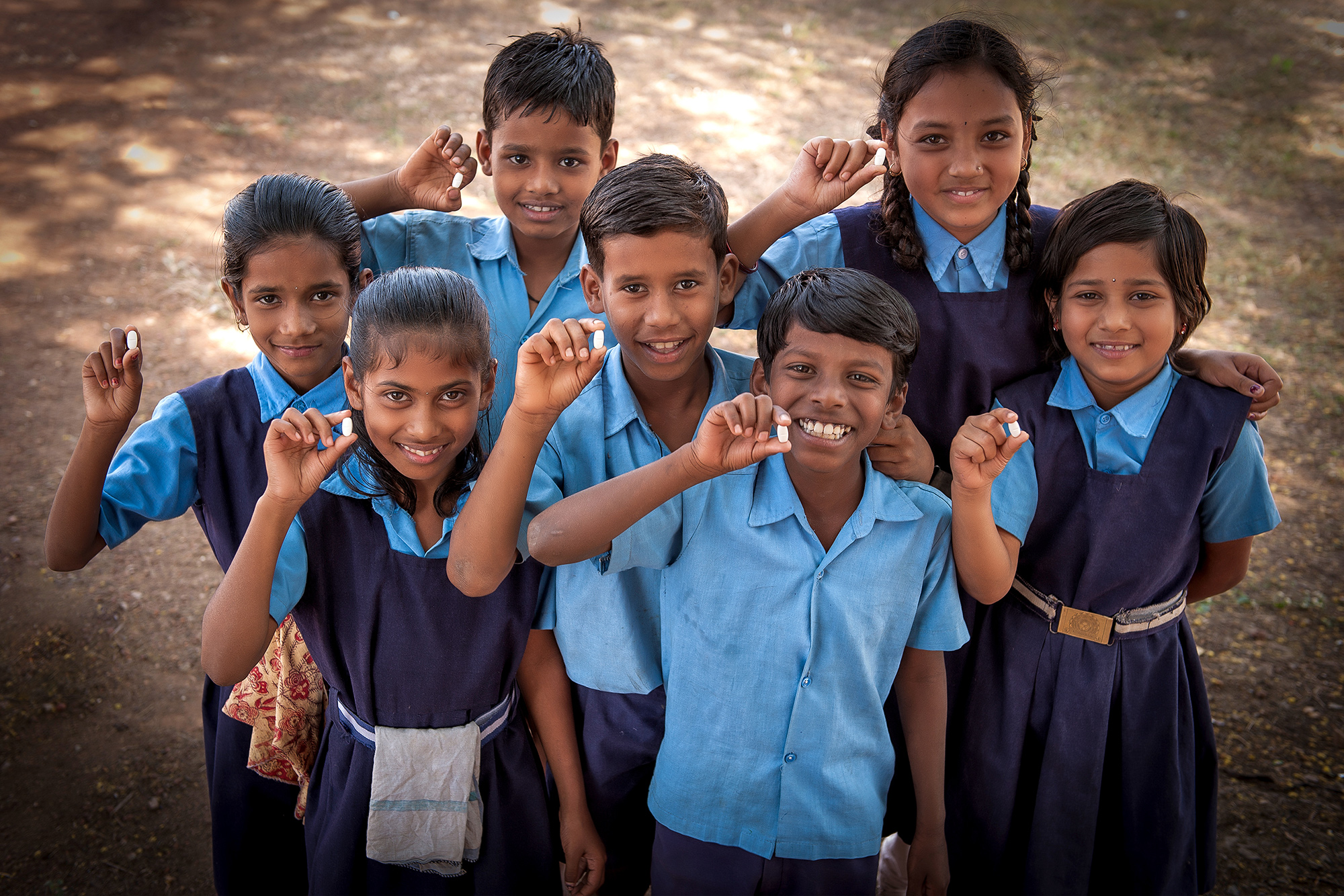 $100 spent on school-based deworming can lead to an additional 14 years of education for children. Photo: Evidence Action