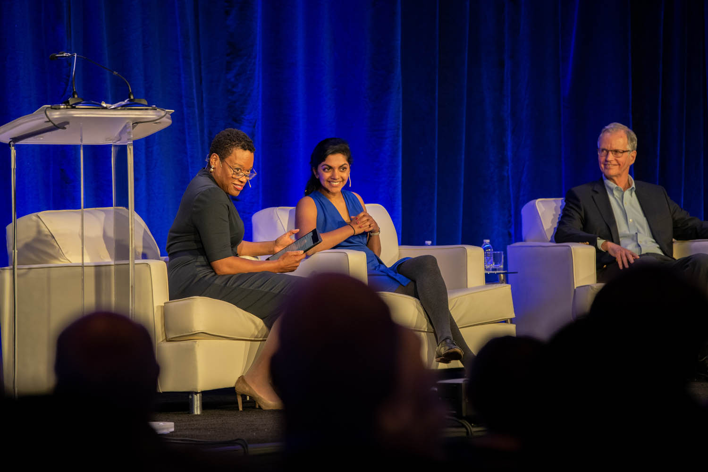 Melissa Nobles, Harini Suresh, and Thomas Malone at the Atlanta Roadshow
