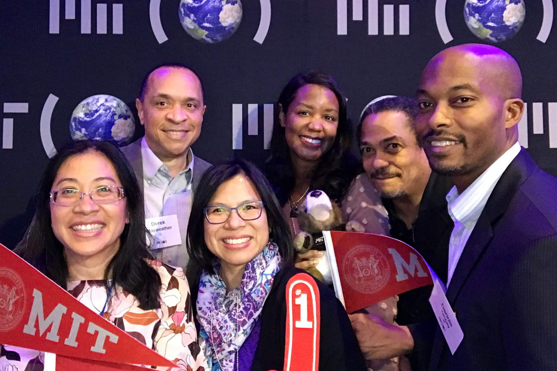 Guests at the Atlanta Roadshow selfie station