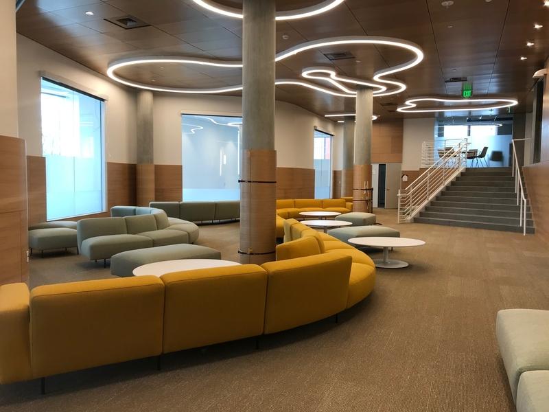 New Vassar Residence, Mezzanine Lounge. Photo: MIT Facilities