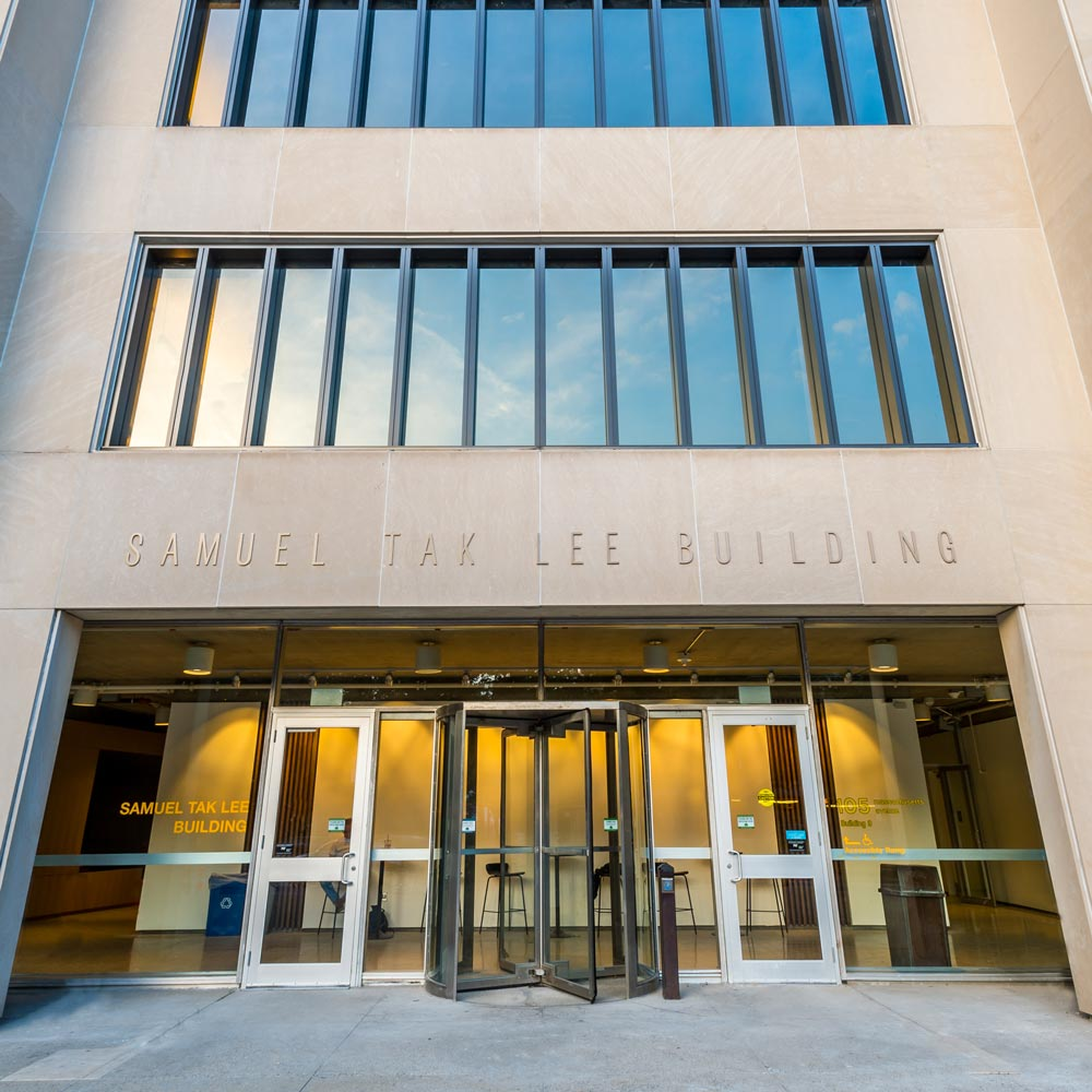 Image of Samuel Tak Lee building from the front door.