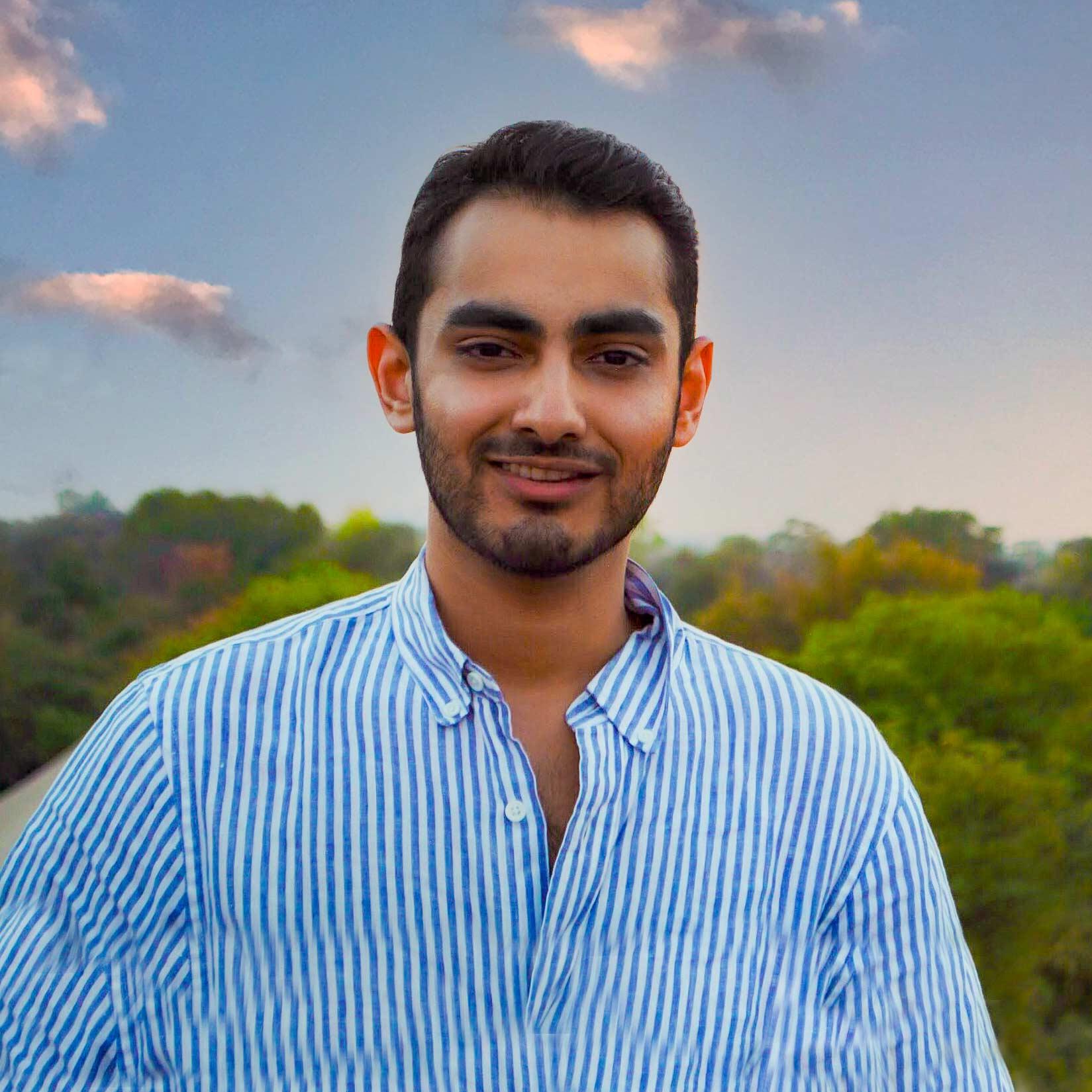 Shivang Tayal poses outdoors. Image: Courtesy of Shivang Tayal