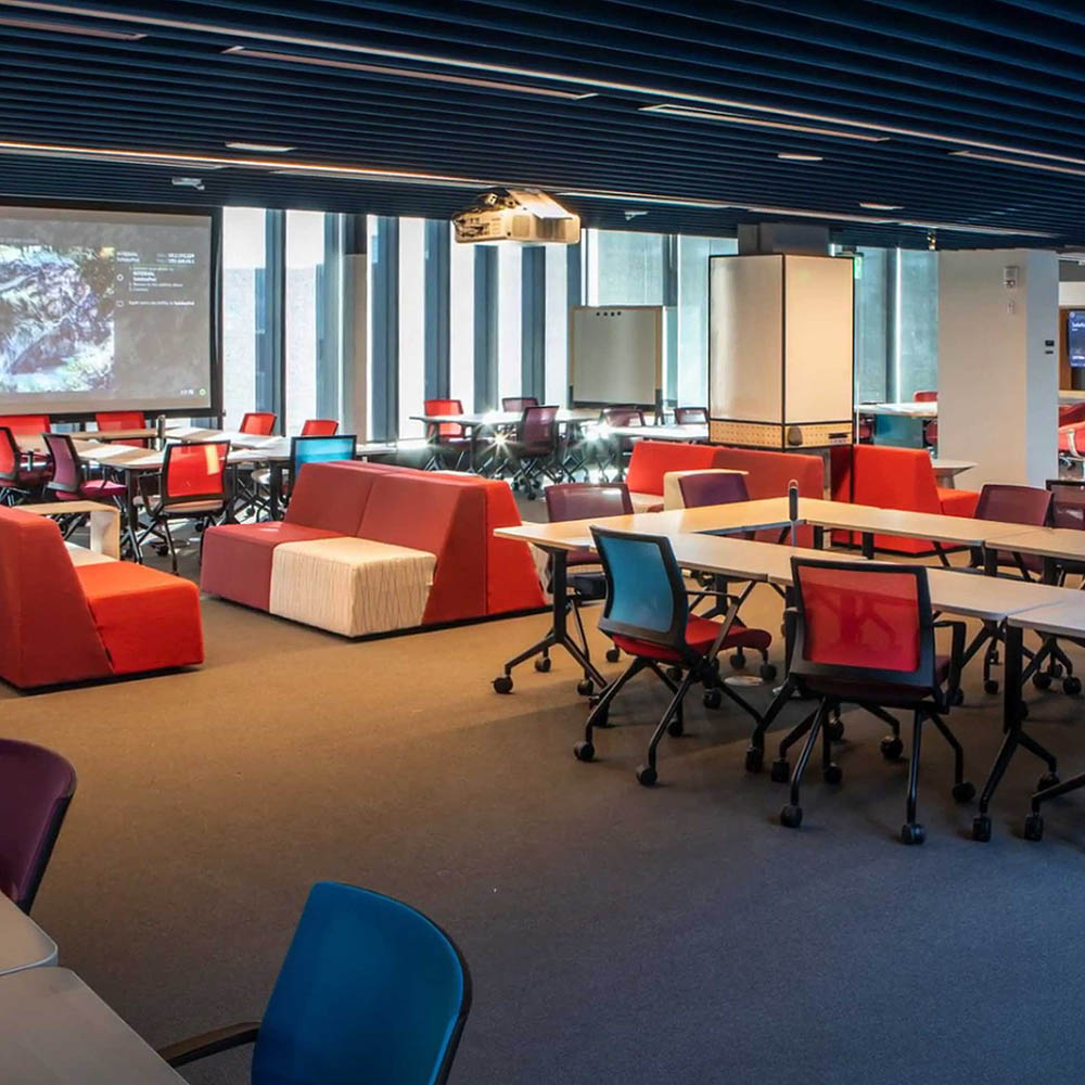 Image of a shared work space on campus.